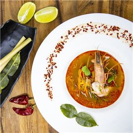 Spicy Tom Yum with Shrimps